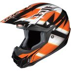 Black/Orange/White Spectrum CL-X6 MC-7 Helmet - 734-976