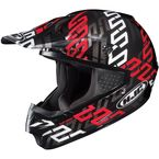Black/Red/Silver Link CS-MX MC-1 Helmet - 314-914