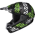 Black/Green/Silver Link CS-MX MC-4 Helmet - 314-946