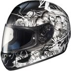 Black/Black/White Virgo CL-16 Helmet - 920-955