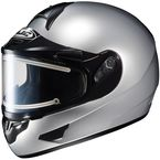 Metallic Silver CL-16SN Helmet w/Electric Shield - 005-572
