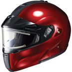 Metallic Wine IS-MAX BTSN Helmet w/Electric Shield - 059-266