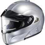 Metallic Silver IS-MAX BTSN Helmet w/Electric Shield - 059-576