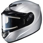 Metallic Silver CS-R2SN Helmet w/Electric Shield - 109-576