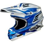 White/Blue/Black VFX-W Werx TC-2 Helmet - 0145-7902-08