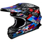 Black/Red/Blue VFX-W Krack TC-2 Helmet - 0145-8002-07