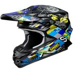 Black/Yellow/Blue VFX-W Krack TC-11 Helmet - 0145-8011-06