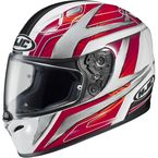 White/Red/Black Ace FG-17 Helmet - 628-916