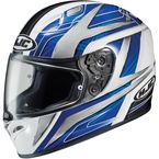 White/Blue/Black Ace FG-17 Helmet - 628-923