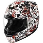 Black/White/Red Airmada Seance Helmet - 0101-6739
