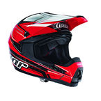 Red Quadrant Stripe Helmet - 0110-3404