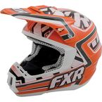 Orange/White Torque Helmet - 14426