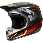 Gray/Orange V4 Race Helmet - 02715-230-L