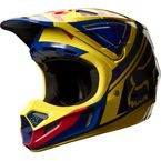 Yellow/Blue V4 Intake Helmet - 07114-586-S