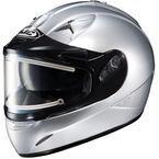 Metallic Silver IS-16SN Helmet w/Electric Shield - 081-572