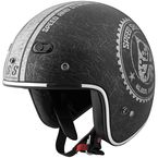 Black/Silver Speed Shop SS600 Helmet - 87-6790