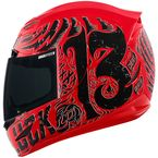 Red Gloss Airmada Hard Luck Helmet - 0101-7164