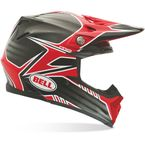 Red/Black/White Moto-9 Pinned Carbon Helmet - 7028516