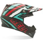 Teal/Black/White/Red Moto-9 Tagger Scrub Helmet - 7028543