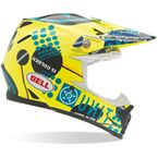 Yellow/Teal/Black Moto-9 Unit Existance Carbon Helmet - 7028556