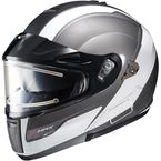 Gray/White/Black IS-MAX Bluetooth-Ready Sprint Helmet w/Electric Shield - 169-902
