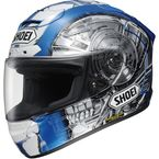 White/Blue X-Twelve Kagayama 4 TC-2 Helmet - 0112-2502-06