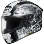 White/Black X-Twelve Kagayama 4 TC-5 Helmet - 0112-2505-05