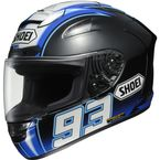 Black/Blue X-Twelve Montmelo Marquez TC-2 Helmet - 0112-2402-06