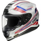 White/Red RF-1200 Dominance TC-1 Helmet - 0109-1001-06