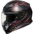 Black/Red RF-1200 Inception TC-1 Helmet - 0109-1501-06