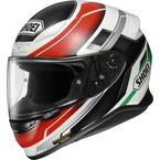 White/Green/Red RF-1200 Mystify TC-4 Helmet - 0109-1104-08