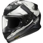 Black/White RF-1200 Phantasm TC-6 Helmet - 0109-1406-06