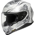 White/Silver-1200 Beacon TC-6 Helmet - 0109-1206-07