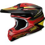 Black/Red/Yellow VFX-W Sear TC-1 Helmet - 0145-8301-06