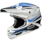 White/Blue/Black VFX-W Sear TC-2 Helmet - 0145-8302-06