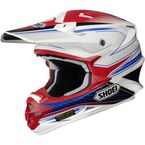 White/Red/Blue VFX-W Sear TC-10 Helmet - 0145-8310-03