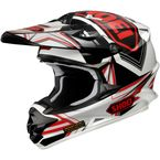 White/Red/Black VFX-W Reputation Helmet - 0145-8201-07