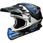 Black/Blue/White VFX-W Reputation TC-2 Helmet - 0145-8202-06