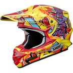 Yellow/Red VFX-W Barcia TC-3 Helmet - 0145-8403-04