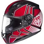 Red/Black/White MC-1 CL-17 Redline Helmet - 828-914