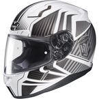 White/Charcoal/Black MC-10 CL-17 Redline Helmet - 828-906