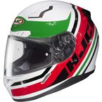 White/Red/Green/Black MC-1 CL-17 Victory Helmet - 826-916