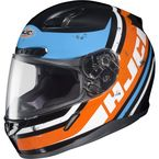 Orange/Blue/Black/White MC-7 CL-17 Victory Helmet - 826-977