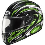 CL-Max II BT Black/Green/White MC-4 Atomic Modular Helmet - 976-946