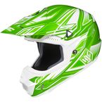 Green/White MC-4 CL-X6 Fulcrum Helmet - 738-946