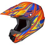 Orange/Blue/Yellow MC-6 CL-X6 Fulcrum Helmet - 738-964