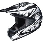 White/Black MC-10 CS-MX Shattered Helmet - 316-905