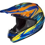 Orange/Yellow/Blue MC-23 CS-MX Shattered Helmet - 316-934