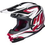 White/Black/Red MC-1 FG-X Hammer Helmet - 342-913