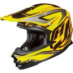 Yellow/Black/Red MC-3 FG-X Hammer Helmet - 342-933